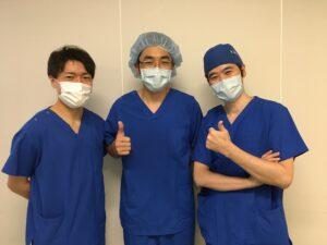 上岡医師(中央)、宮本医師(左)、大野医師(右)